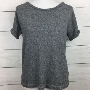 Madewell Hi-Line Short Sleeve Cotton/Linen Top